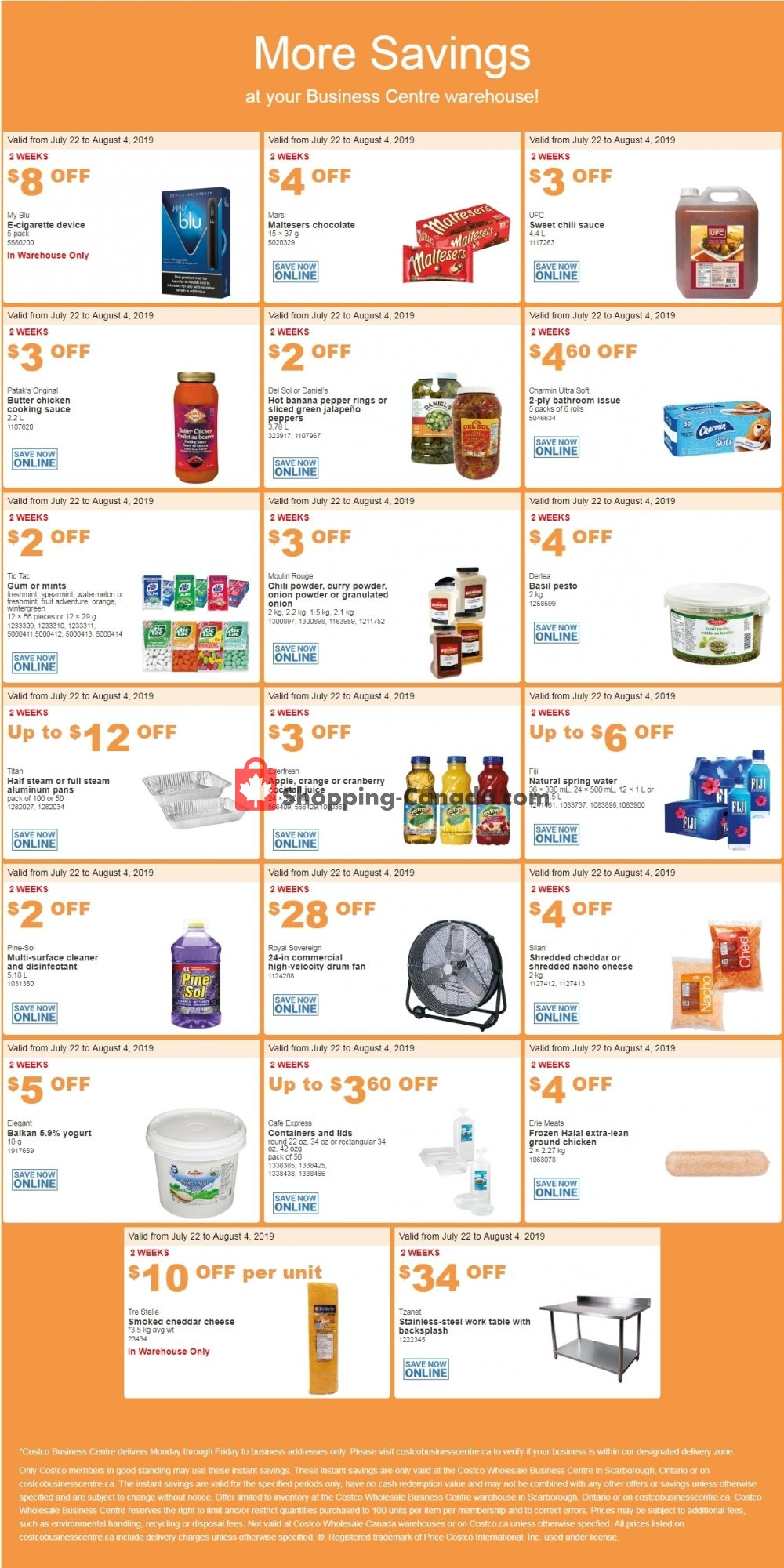 Flyer Costco Canada - from Monday July 22, 2019 to Sunday August 4, 2019
