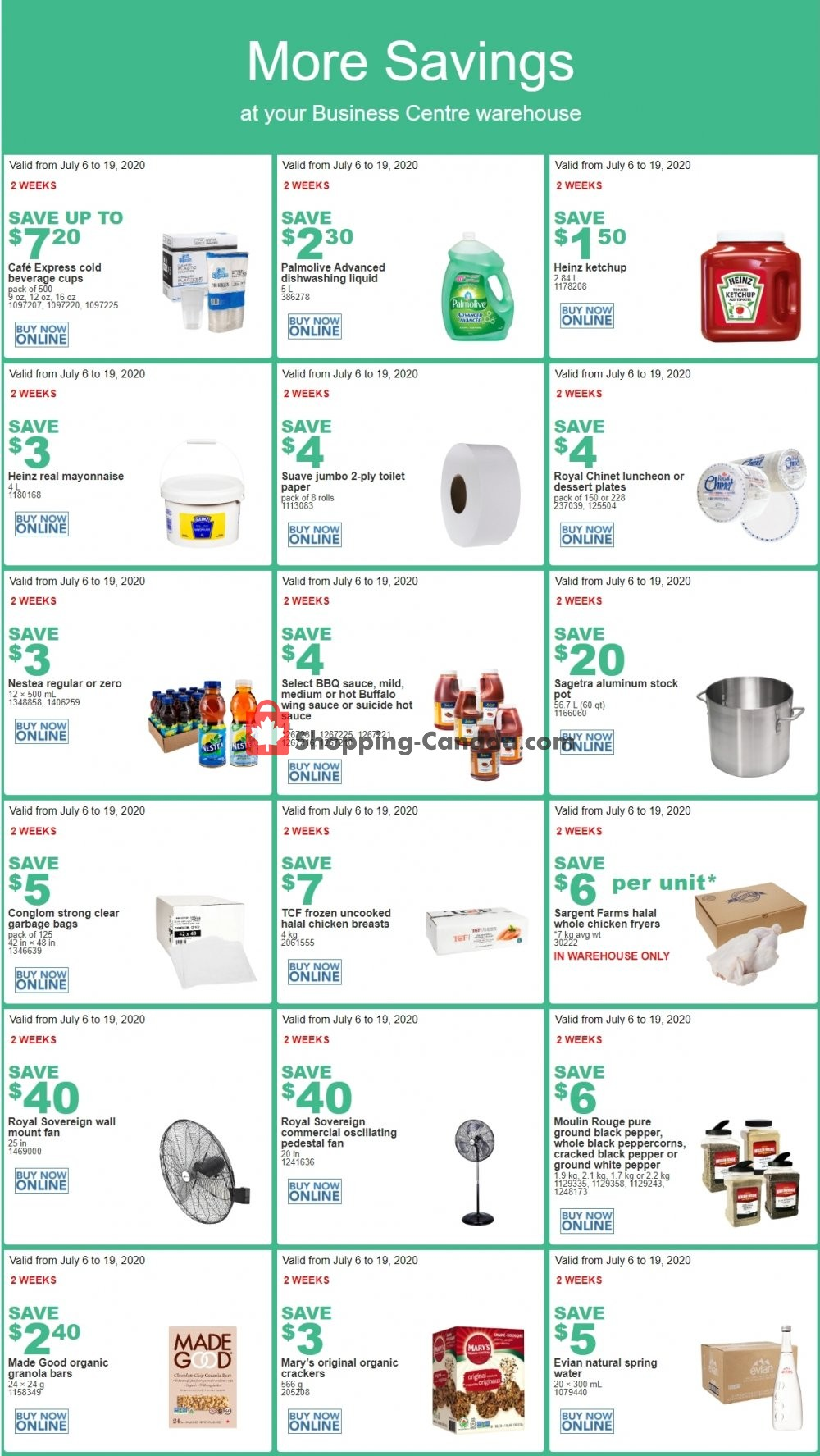 Flyer Costco Canada - from Monday July 6, 2020 to Sunday July 19, 2020