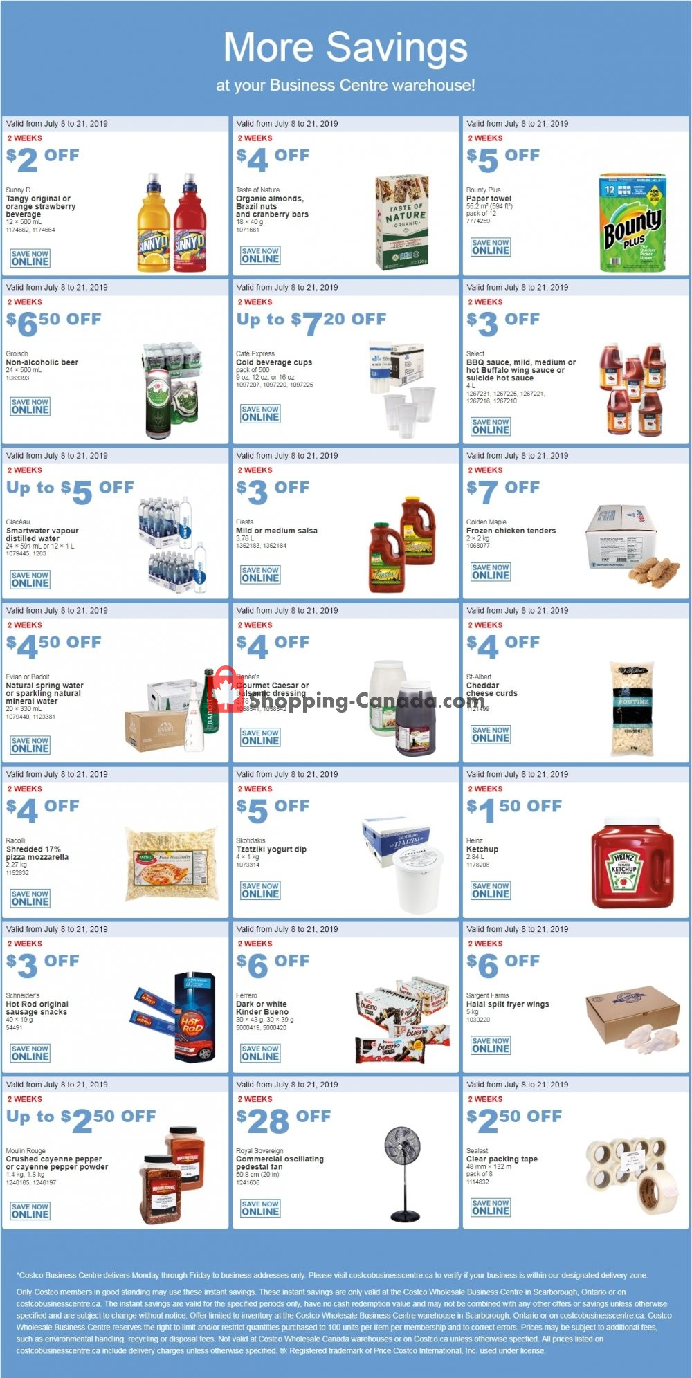 Flyer Costco Canada - from Monday July 8, 2019 to Sunday July 21, 2019