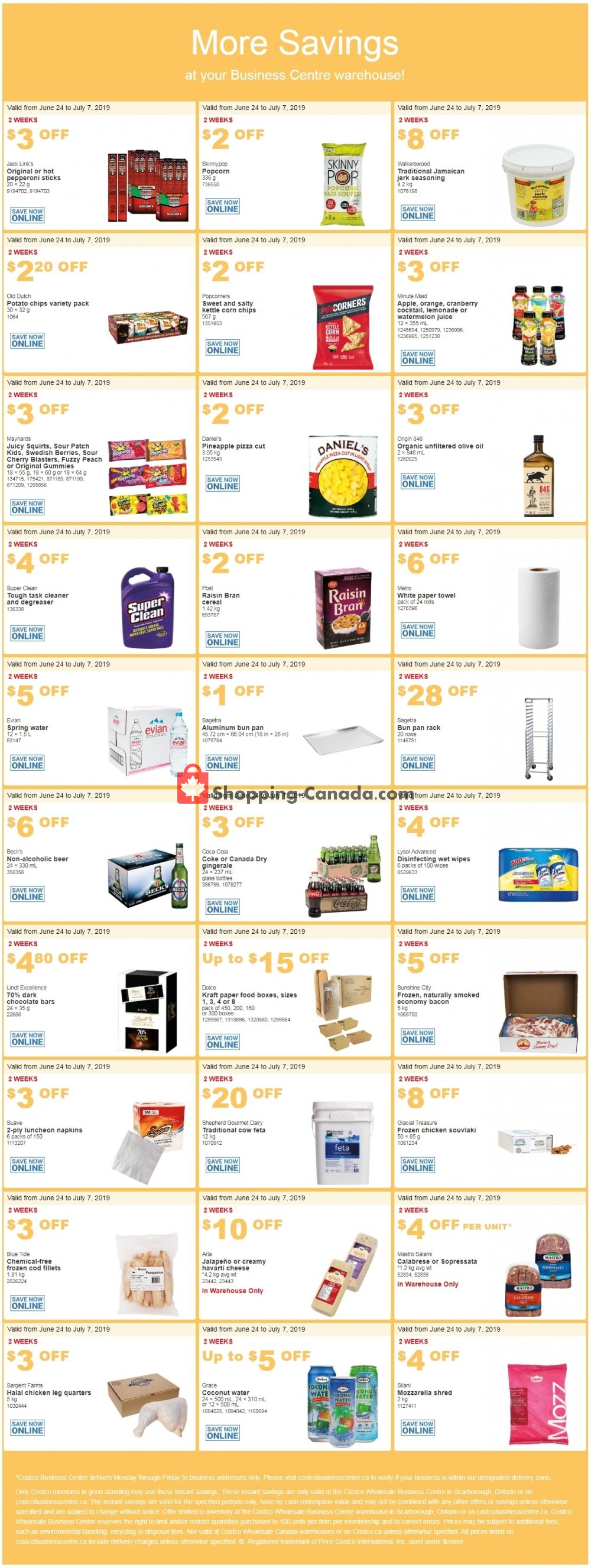 Flyer Costco Canada - from Monday June 24, 2019 to Sunday July 7, 2019