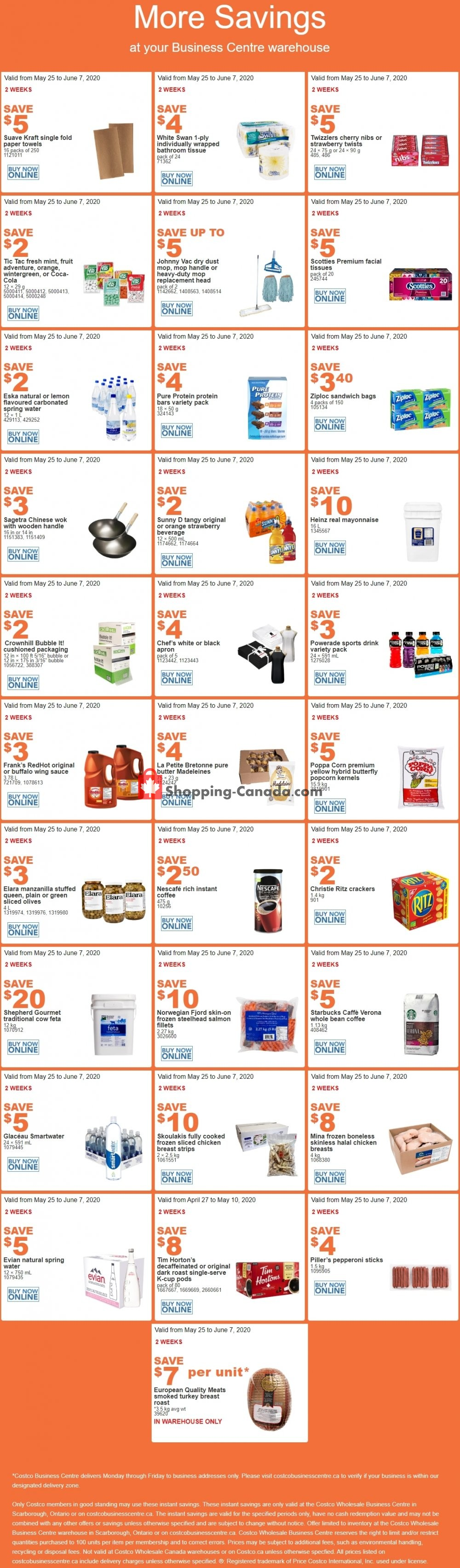 Flyer Costco Canada - from Monday May 25, 2020 to Sunday June 7, 2020
