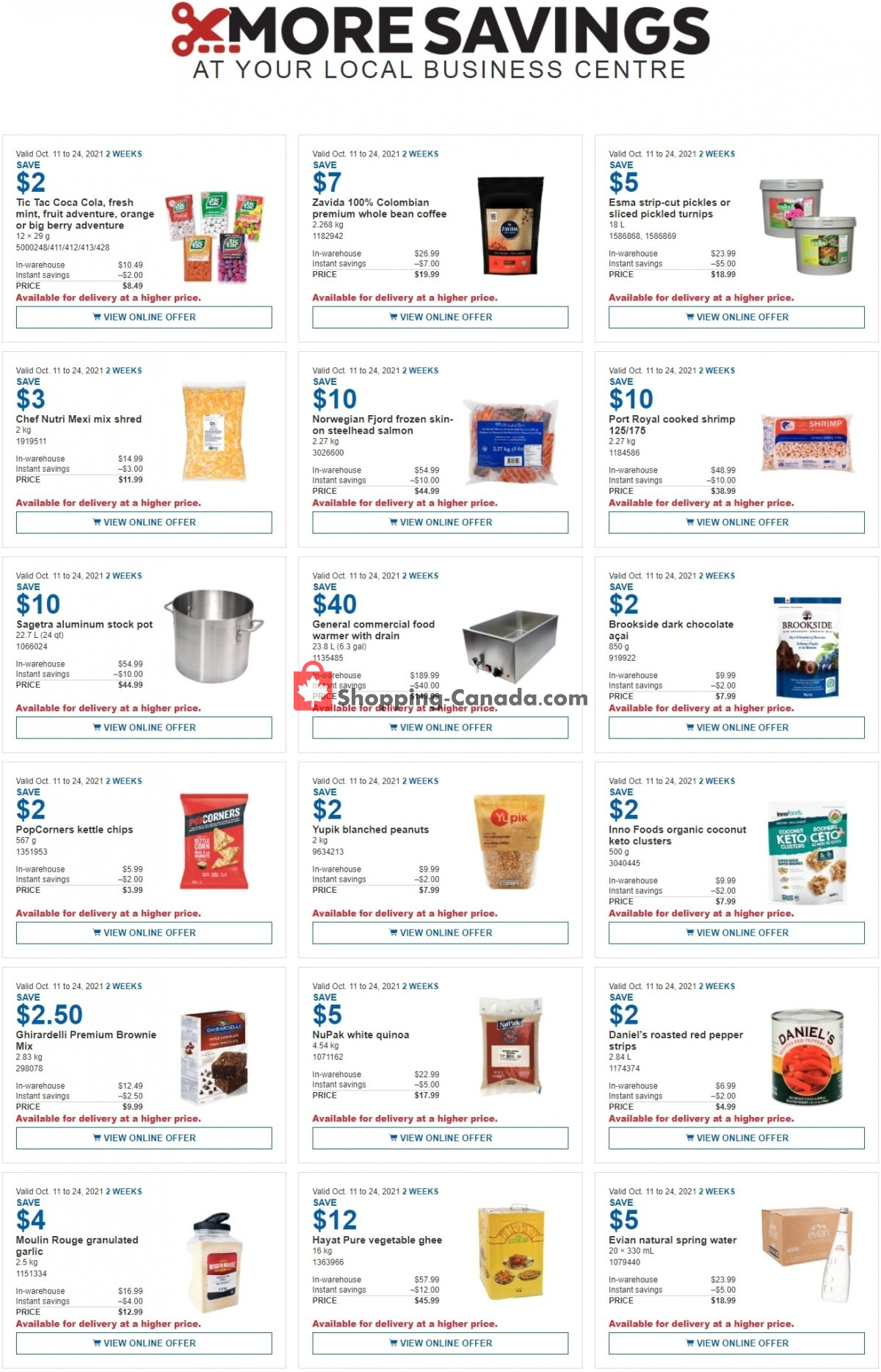 Flyer Costco Canada - from Monday October 11, 2021 to Sunday October 24, 2021