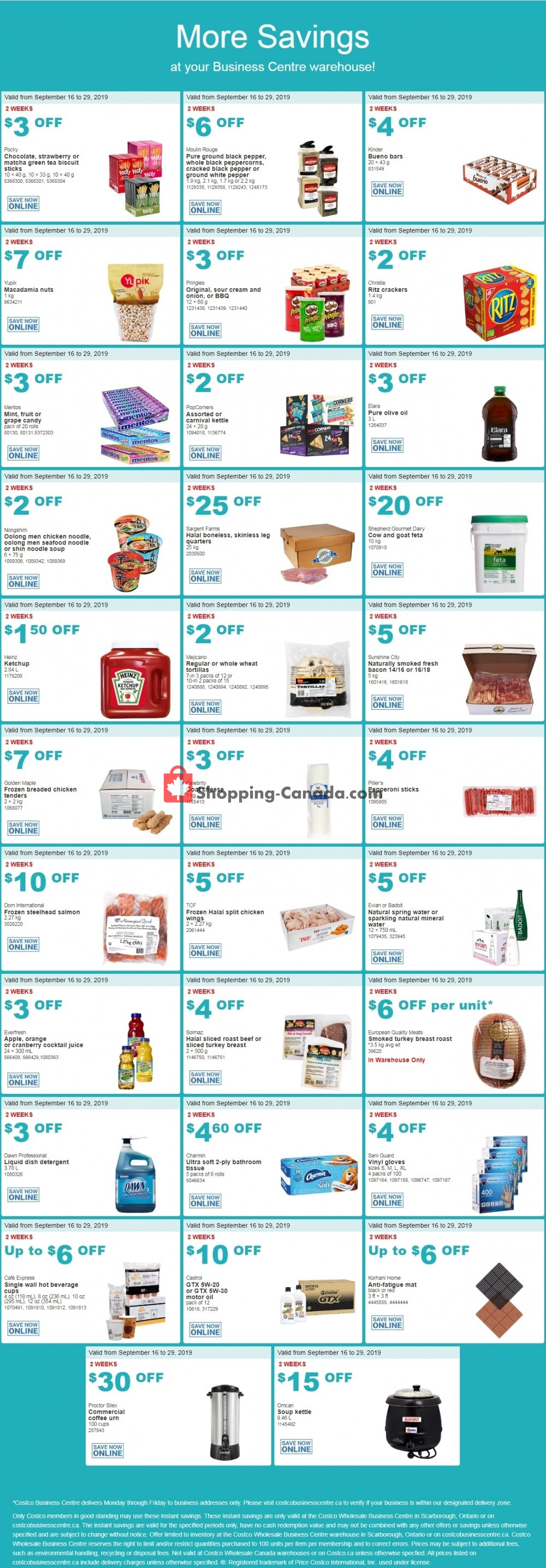 Flyer Costco Canada - from Monday September 16, 2019 to Sunday September 29, 2019