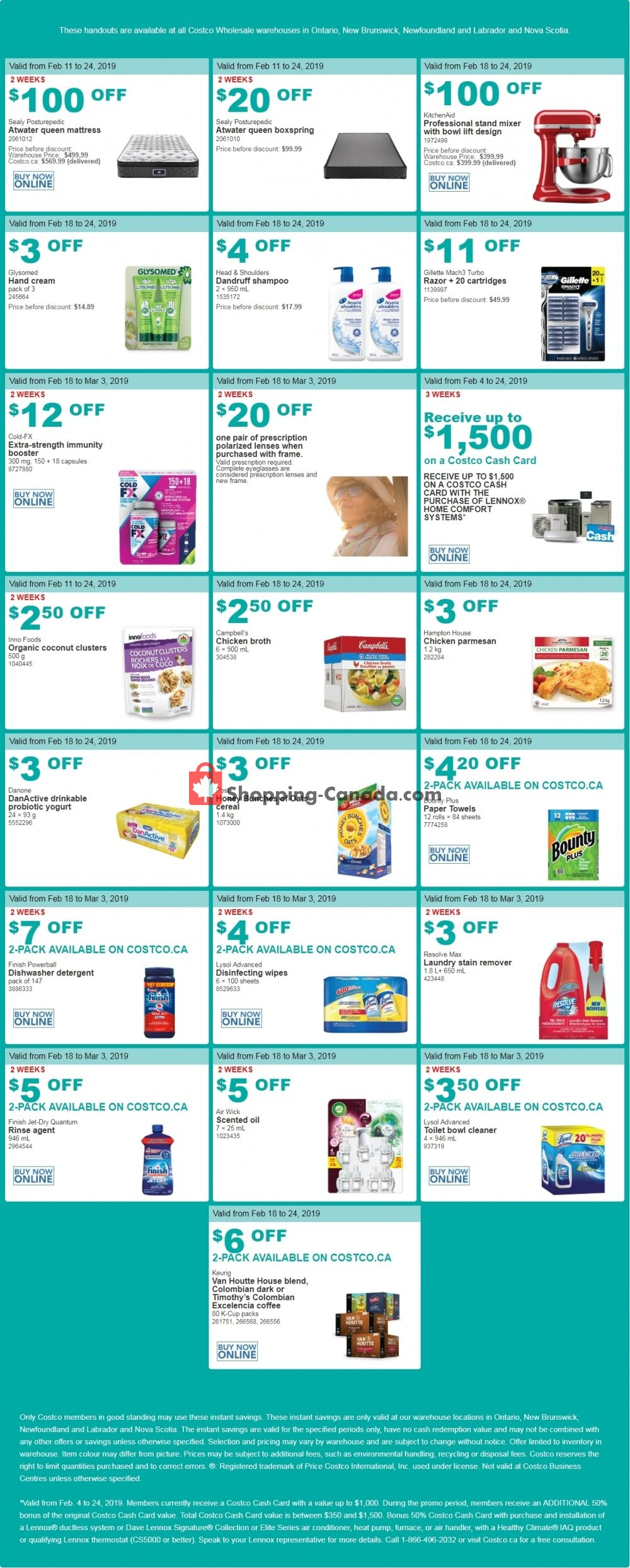 Flyer Costco Canada - from Monday February 18, 2019 to Sunday March 3, 2019