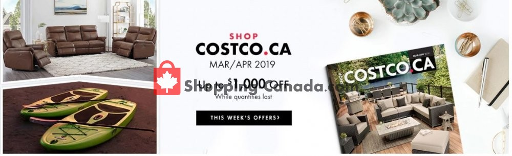 Flyer Costco Canada - from Friday March 1, 2019 to Tuesday April 30, 2019