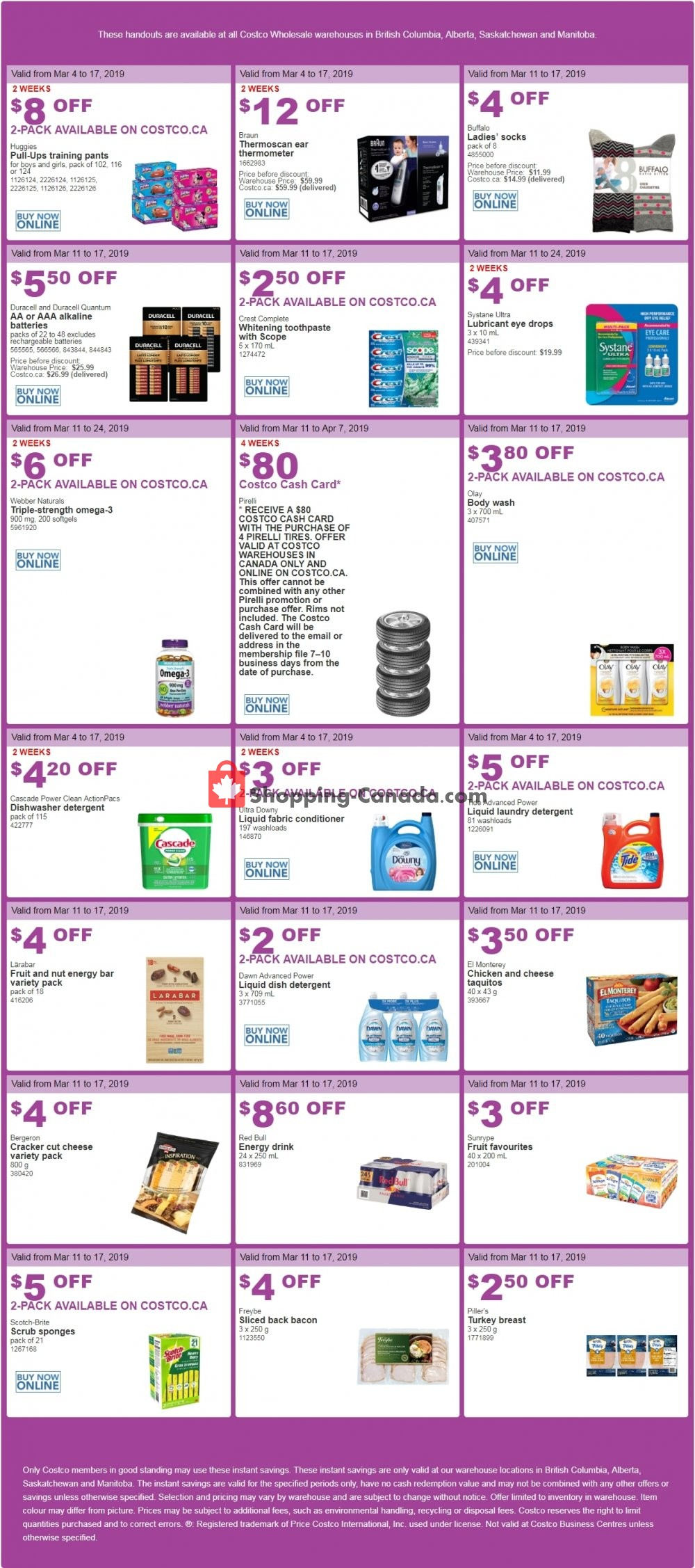 Flyer Costco Canada - from Monday March 11, 2019 to Sunday March 17, 2019