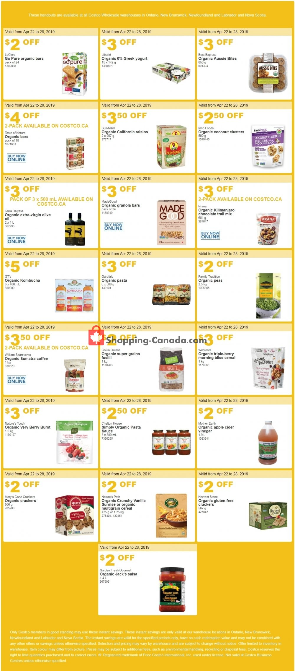Flyer Costco Canada - from Monday April 22, 2019 to Sunday April 28, 2019