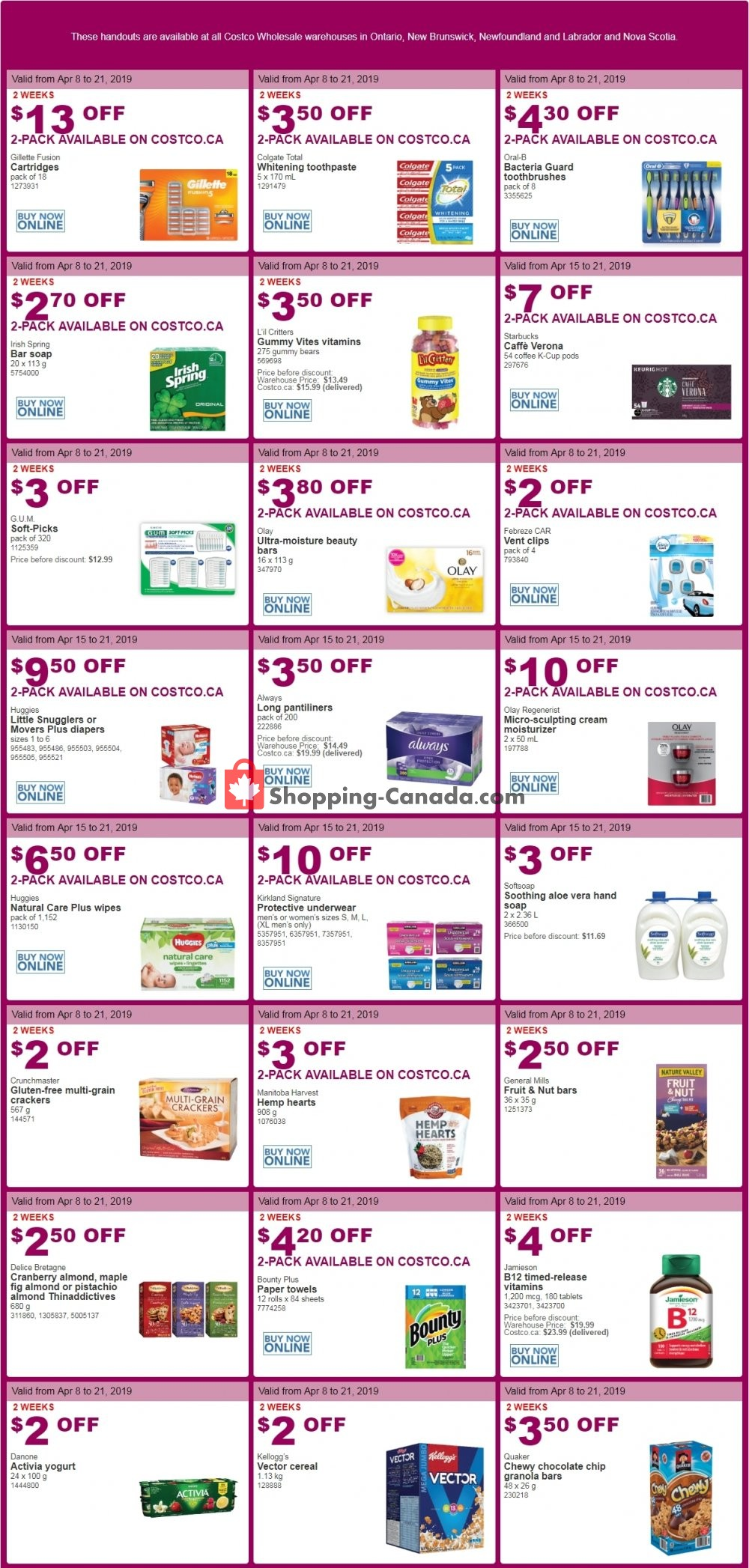 Flyer Costco Canada - from Monday April 8, 2019 to Sunday April 21, 2019