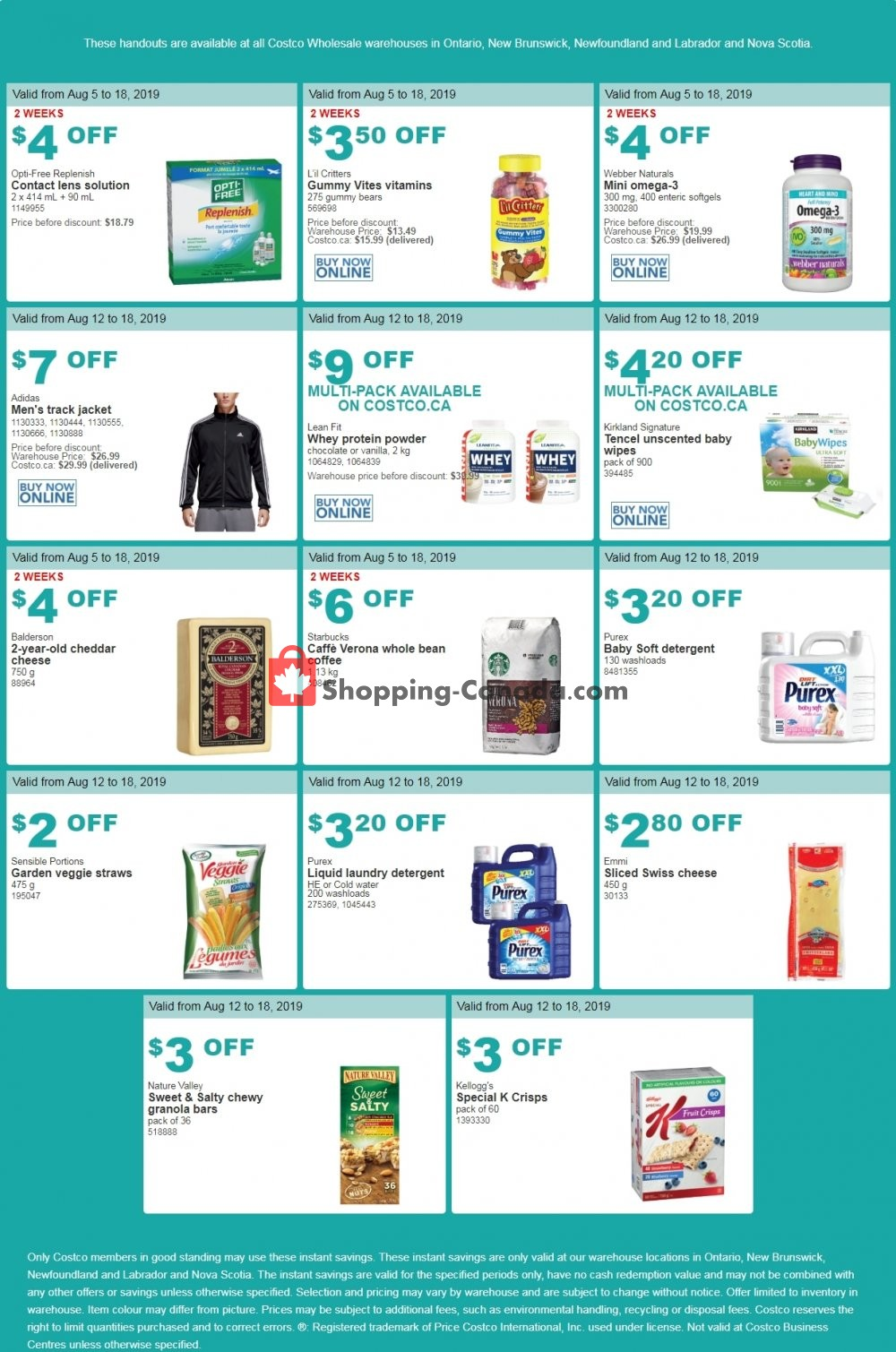Flyer Costco Canada - from Monday August 12, 2019 to Sunday August 18, 2019
