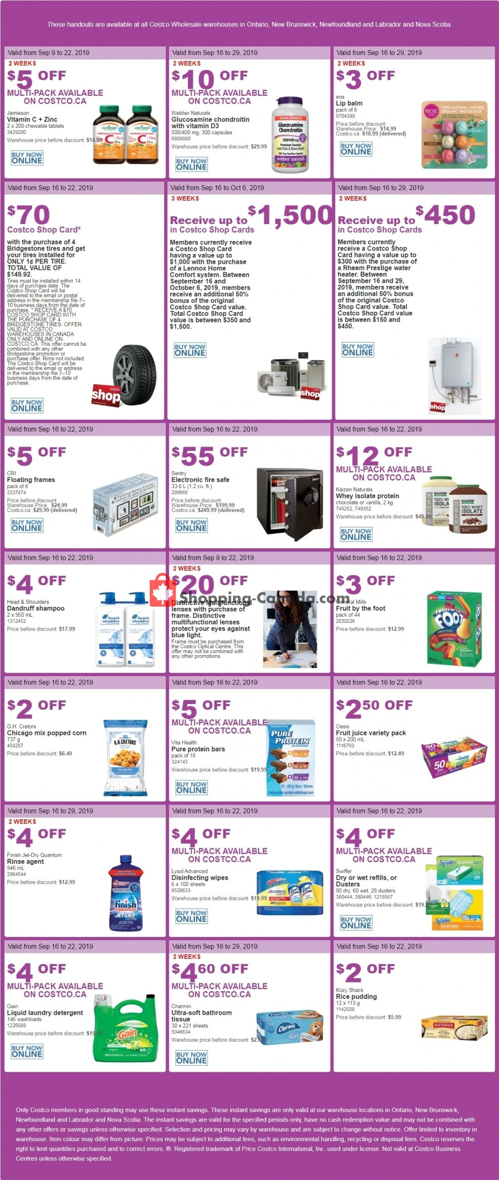 Flyer Costco Canada - from Monday September 16, 2019 to Sunday September 22, 2019