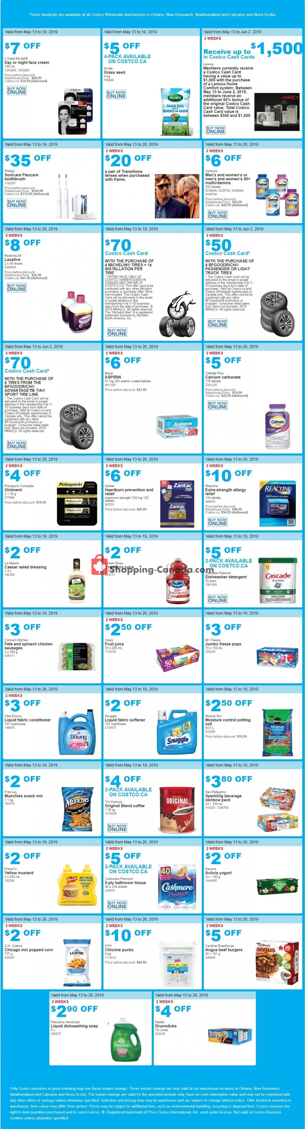 Flyer Costco Canada - from Monday May 13, 2019 to Sunday May 26, 2019