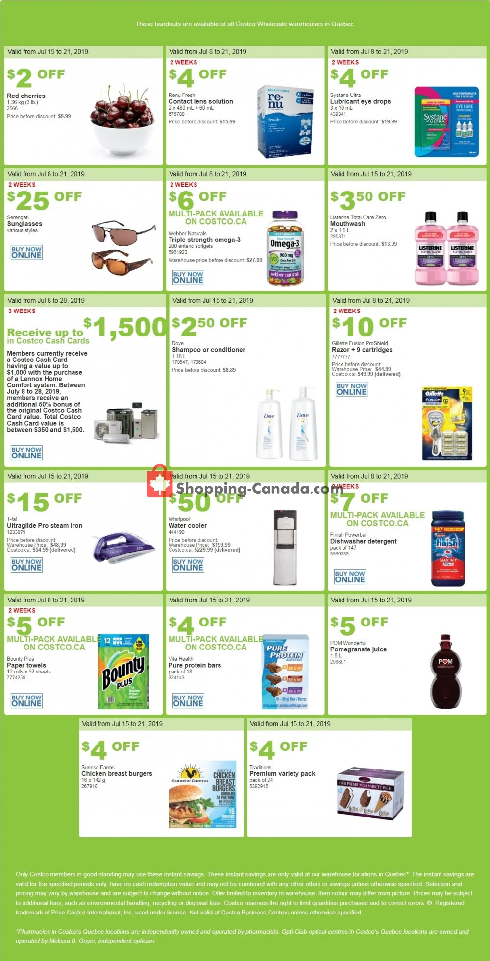 Flyer Costco Canada - from Monday July 15, 2019 to Sunday July 21, 2019