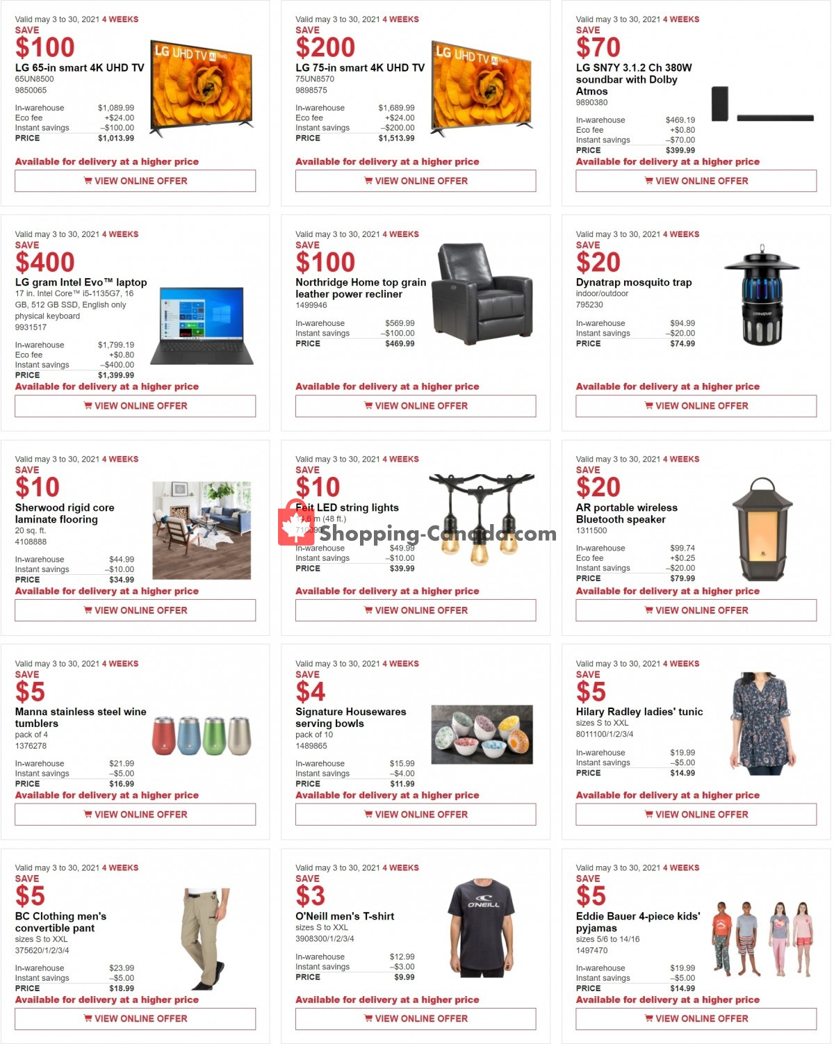 Flyer Costco Canada - from Monday May 3, 2021 to Sunday May 30, 2021