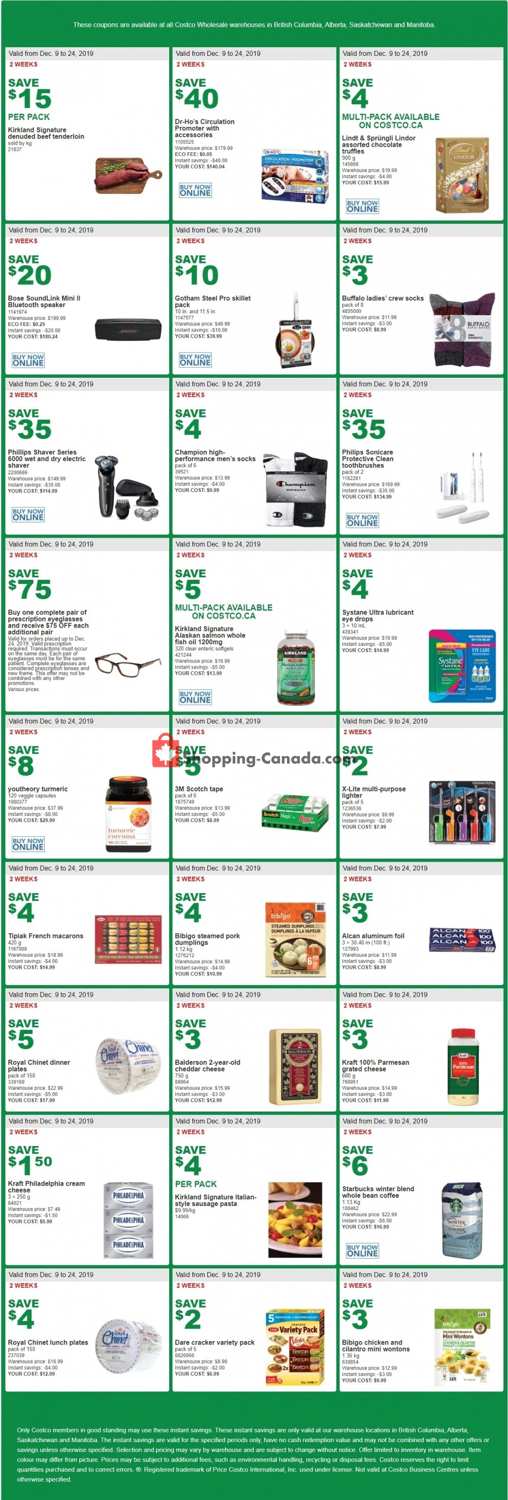 Flyer Costco Canada - from Monday December 9, 2019 to Tuesday December 24, 2019