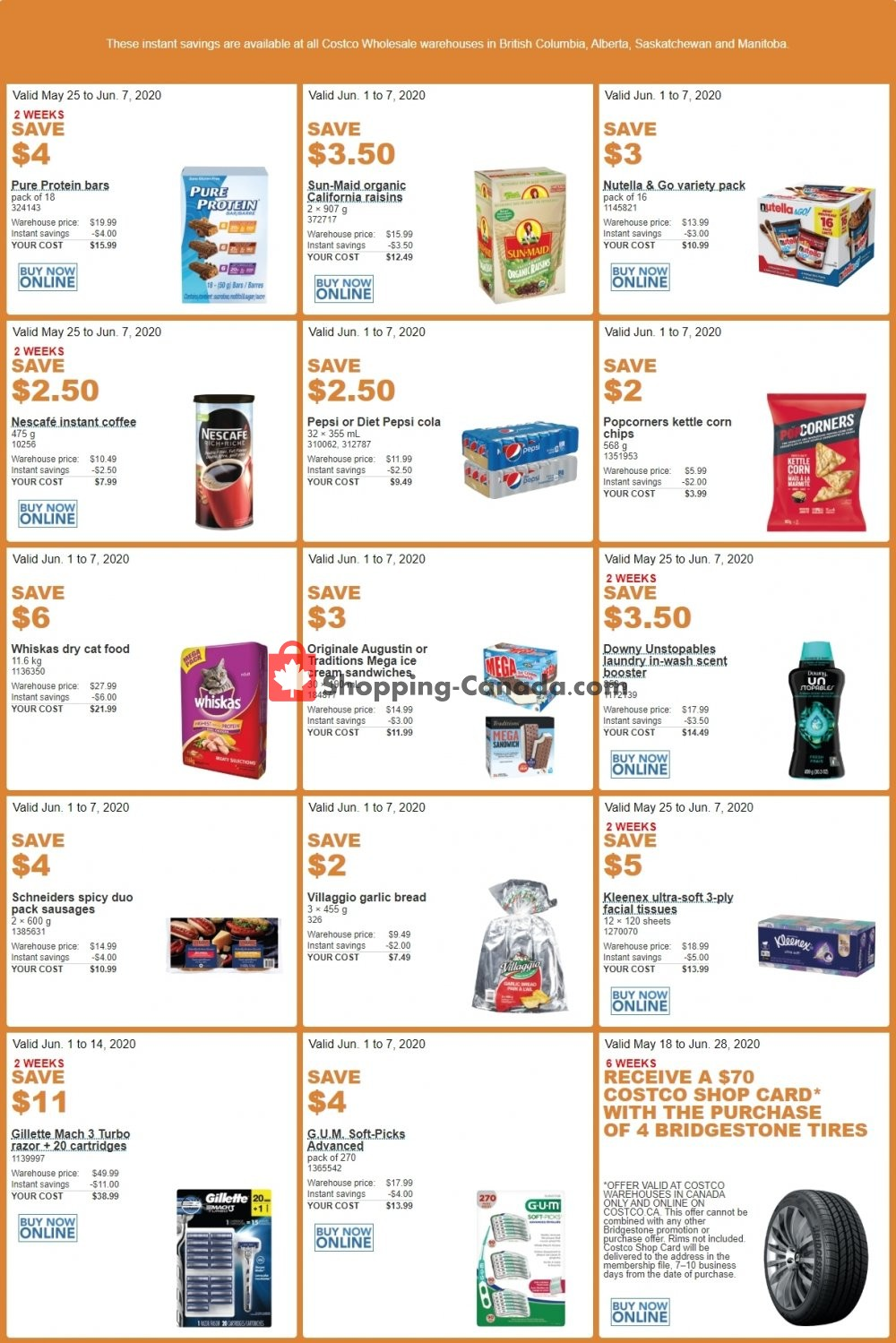 Flyer Costco Canada - from Monday June 1, 2020 to Sunday June 7, 2020