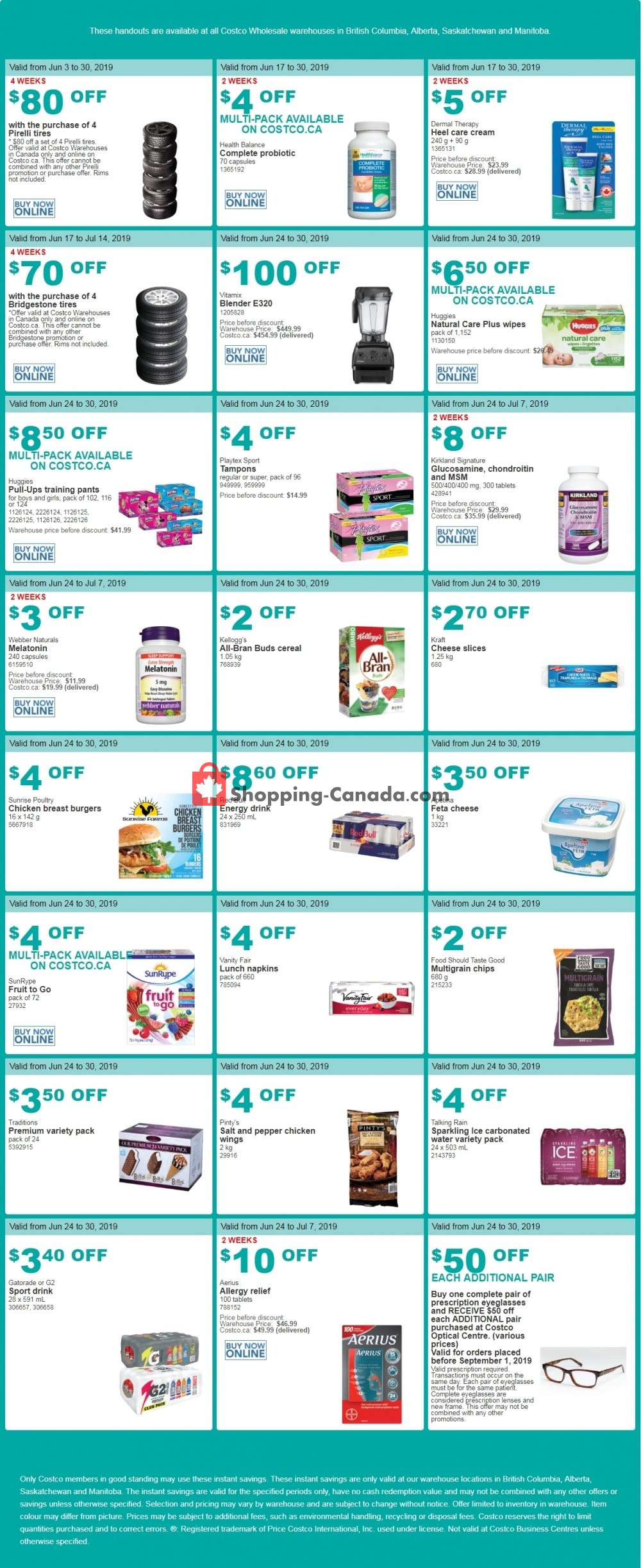 Flyer Costco Canada - from Monday June 24, 2019 to Sunday June 30, 2019