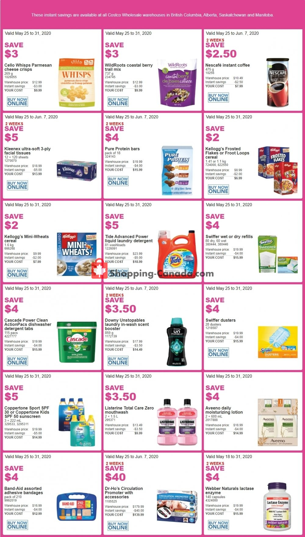Flyer Costco Canada - from Monday May 25, 2020 to Sunday May 31, 2020