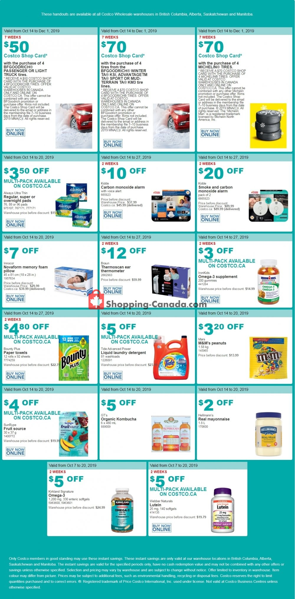 Flyer Costco Canada - from Monday October 14, 2019 to Sunday October 20, 2019