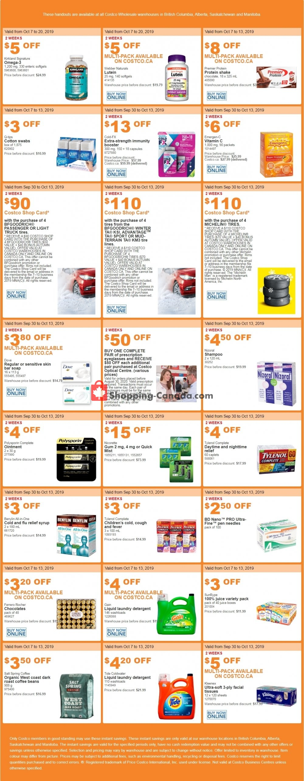 Flyer Costco Canada - from Monday October 7, 2019 to Sunday October 13, 2019