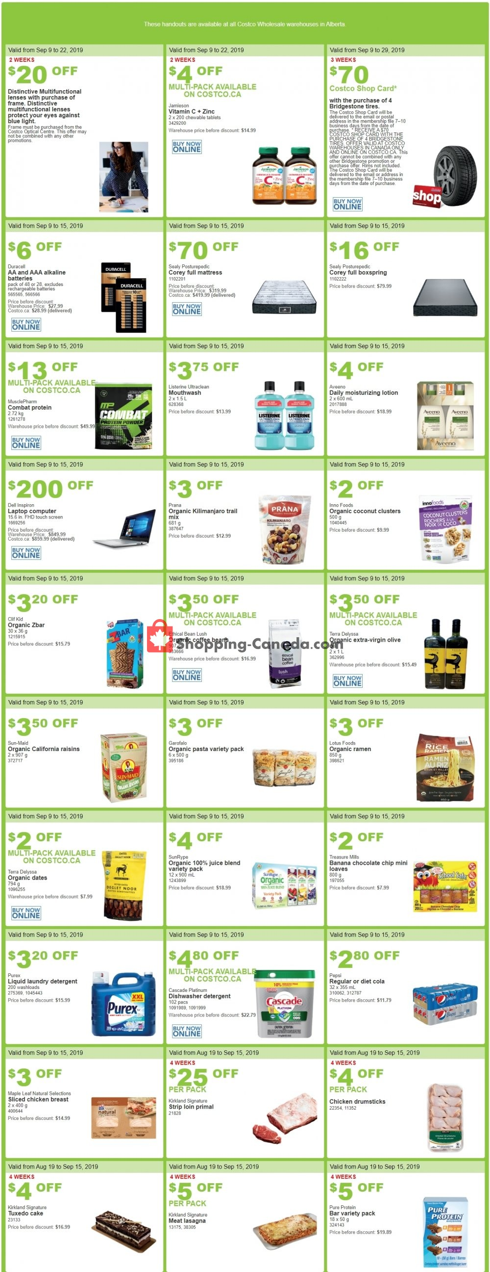 Flyer Costco Canada - from Monday September 9, 2019 to Sunday September 22, 2019