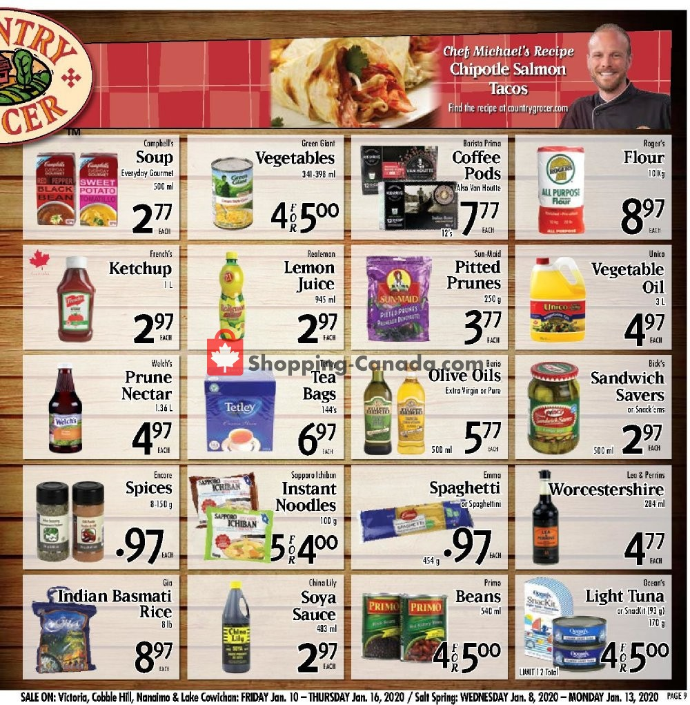 Flyer Country Grocer Canada - from Friday January 10, 2020 to Thursday January 16, 2020