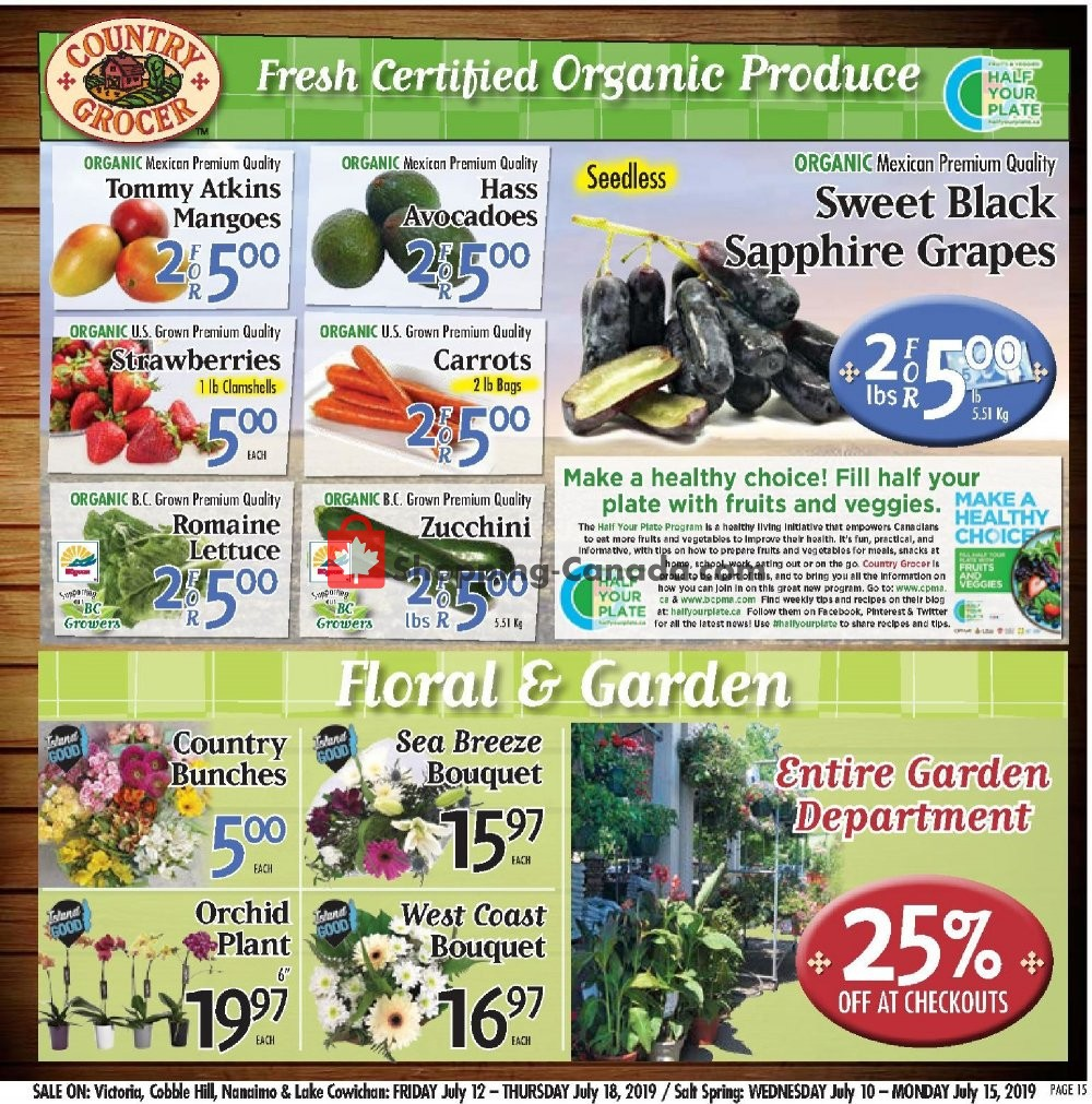 Flyer Country Grocer Canada - from Friday July 12, 2019 to Thursday July 18, 2019