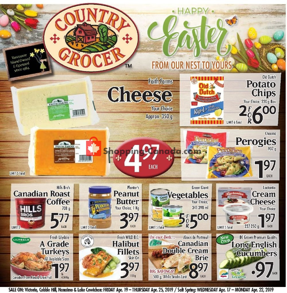 Flyer Country Grocer Canada - from Friday April 19, 2019 to Thursday April 25, 2019