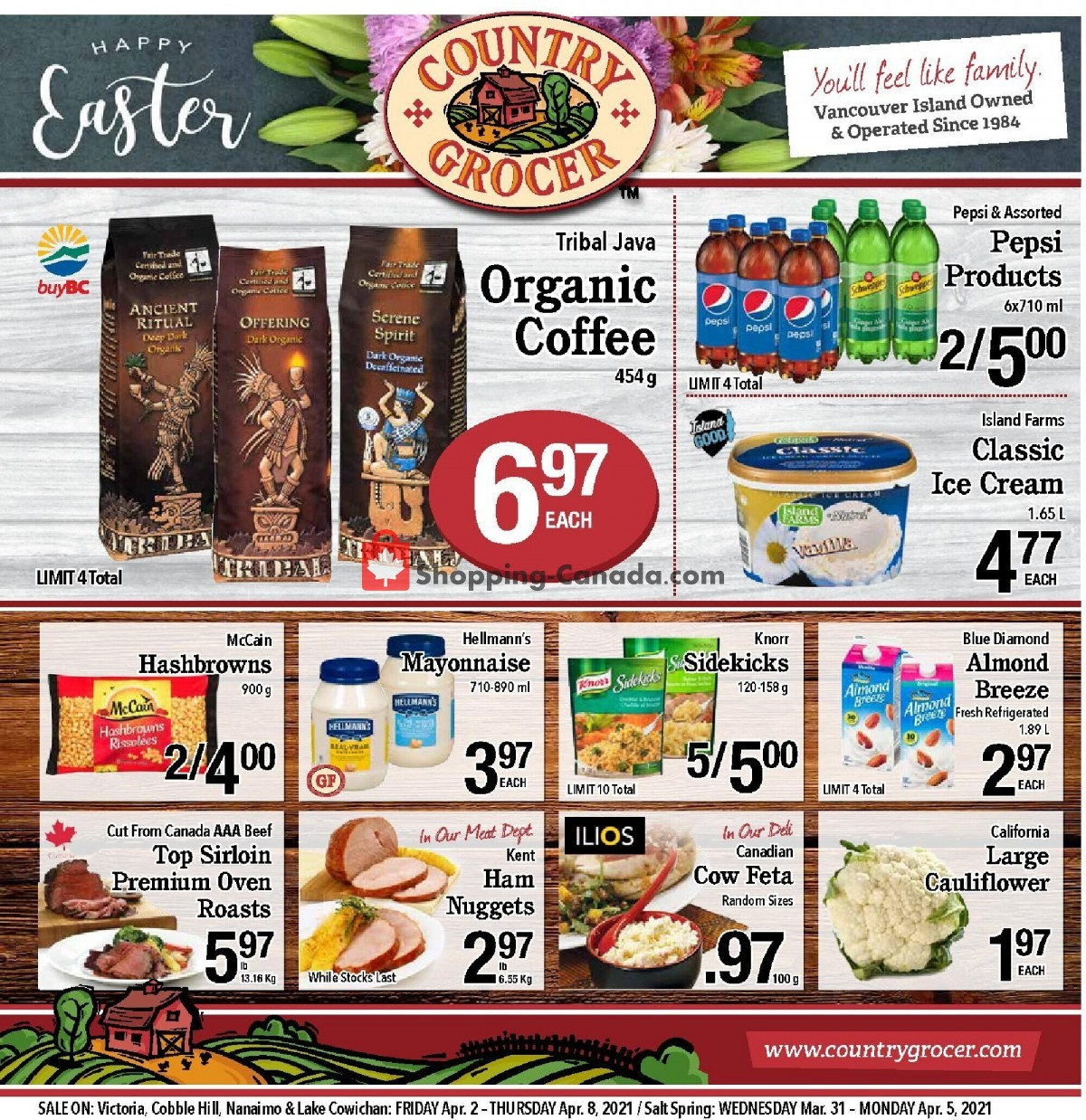 Flyer Country Grocer Canada - from Friday April 2, 2021 to Thursday April 8, 2021