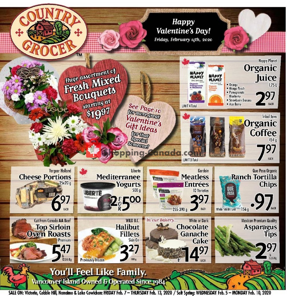 Flyer Country Grocer Canada - from Friday February 7, 2020 to Thursday February 13, 2020