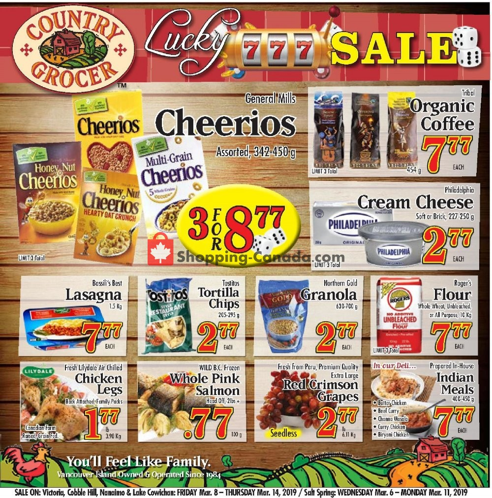 Flyer Country Grocer Canada - from Friday March 8, 2019 to Thursday March 14, 2019