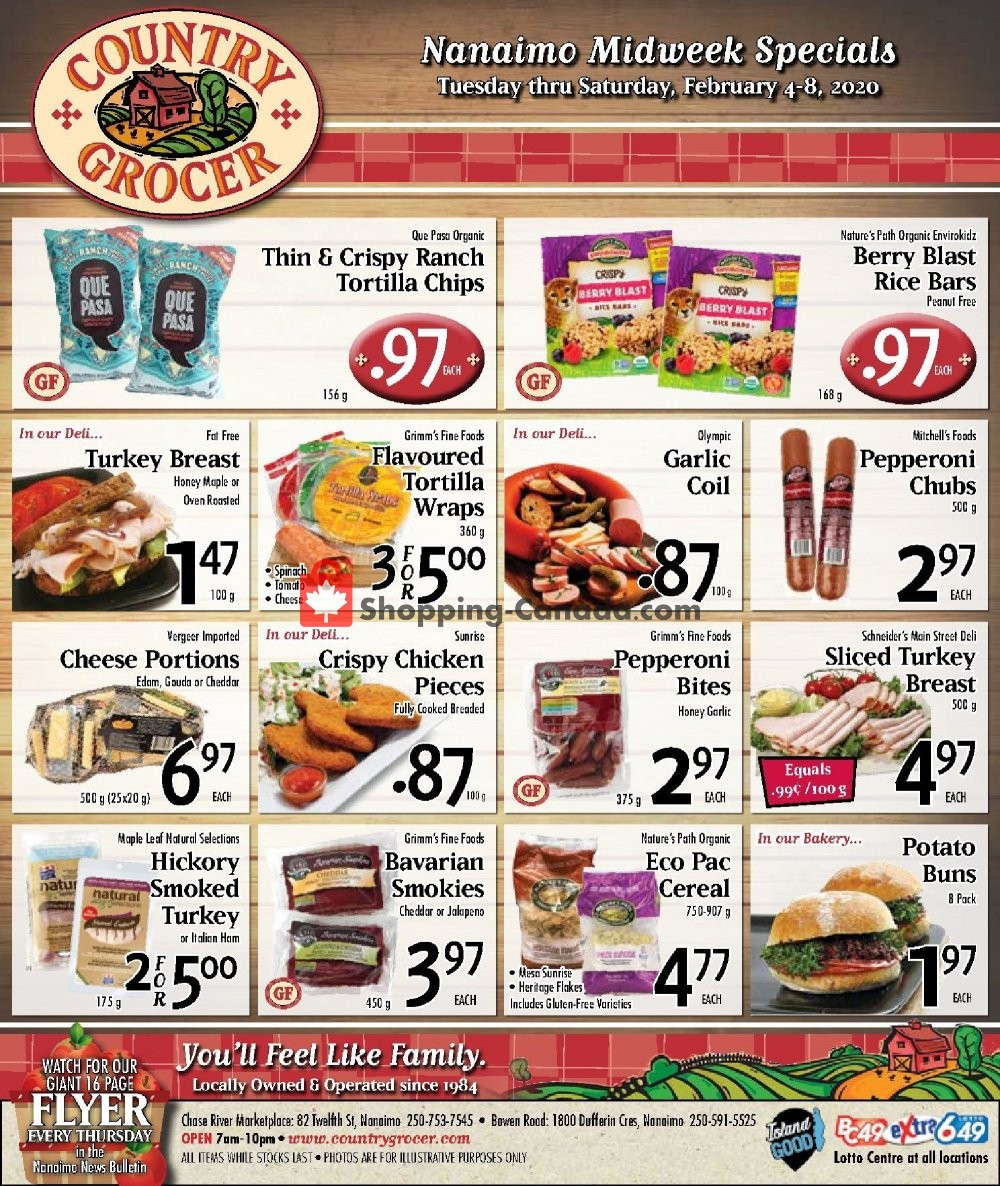Flyer Country Grocer Canada - from Tuesday February 4, 2020 to Saturday February 8, 2020