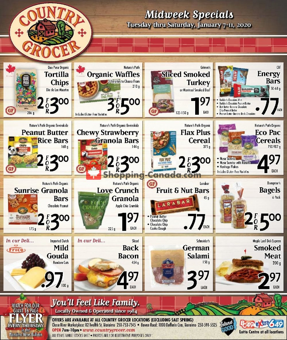Flyer Country Grocer Canada - from Tuesday January 7, 2020 to Saturday January 11, 2020