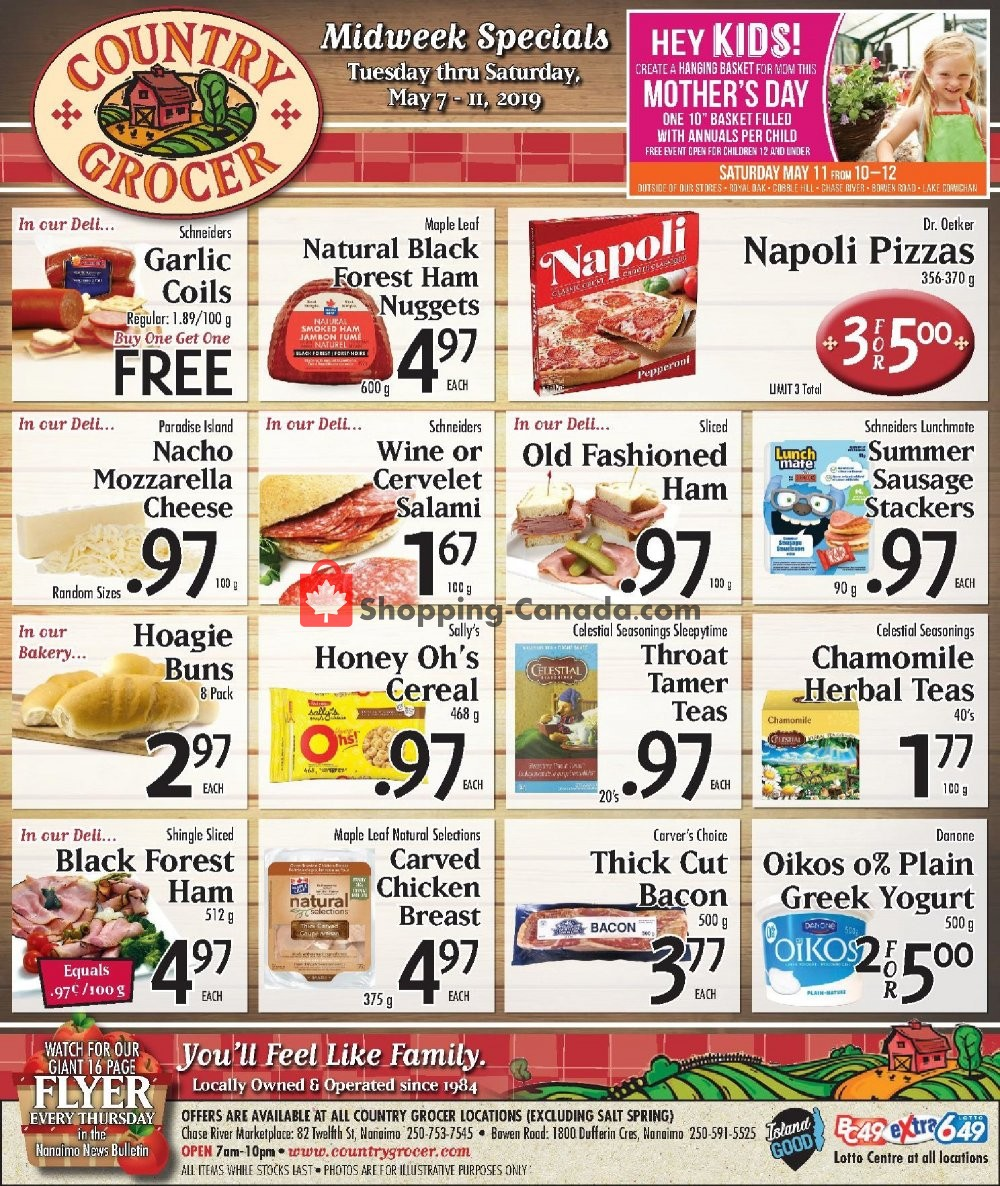 Flyer Country Grocer Canada - from Tuesday May 7, 2019 to Saturday May 11, 2019