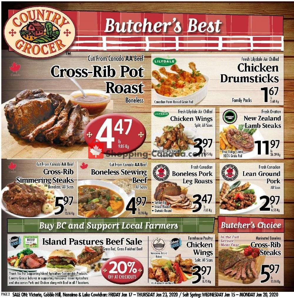Flyer Country Grocer Canada - from Friday January 17, 2020 to Thursday January 23, 2020