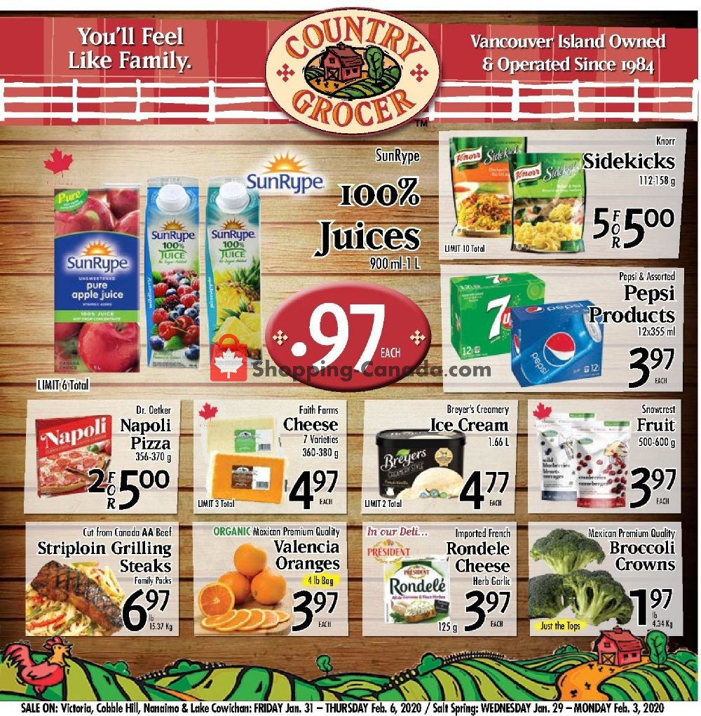 Flyer Country Grocer Canada - from Friday January 31, 2020 to Thursday February 6, 2020