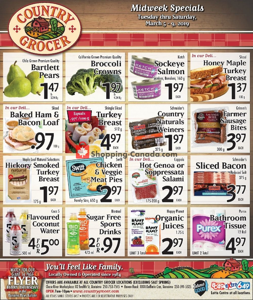Flyer Country Grocer Canada - from Tuesday March 5, 2019 to Saturday March 9, 2019