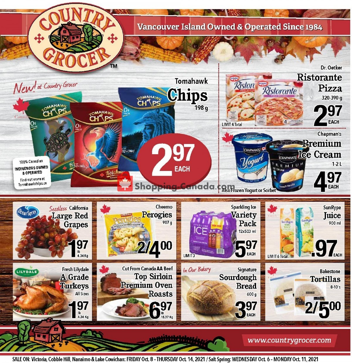Flyer Country Grocer Canada - from Friday October 8, 2021 to Thursday October 14, 2021