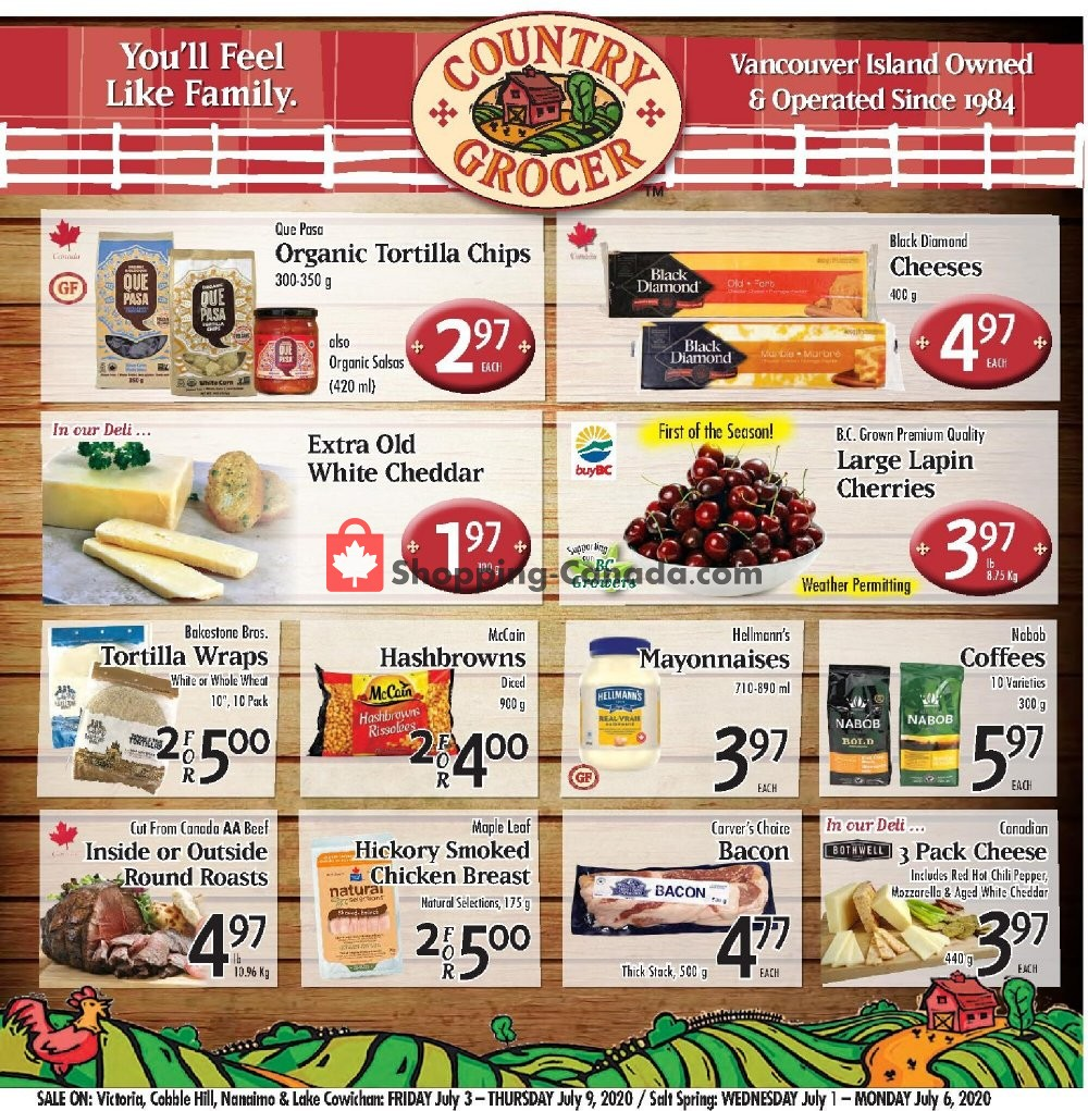 Flyer Country Grocer Canada - from Friday July 3, 2020 to Thursday July 9, 2020