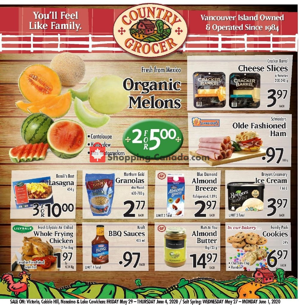 Flyer Country Grocer Canada - from Friday May 29, 2020 to Thursday June 4, 2020