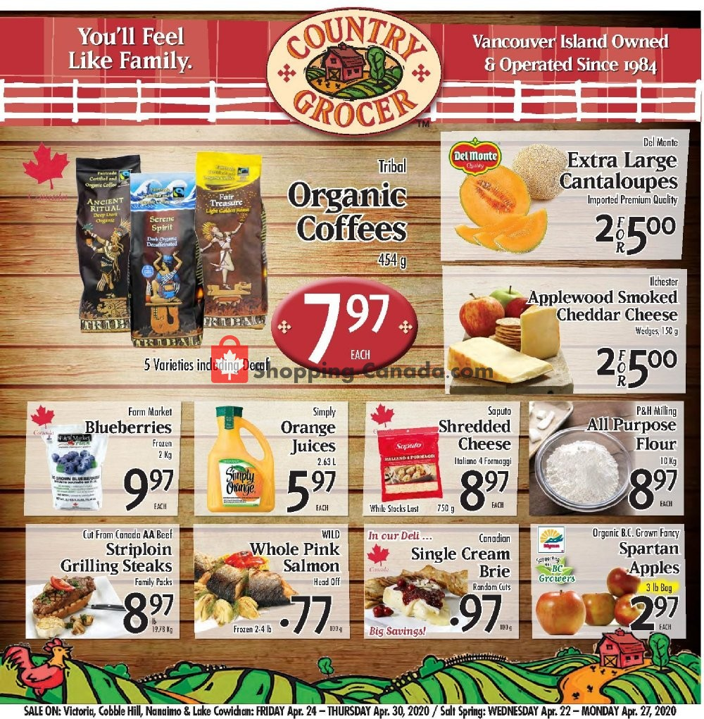 Flyer Country Grocer Canada - from Friday April 24, 2020 to Thursday April 30, 2020