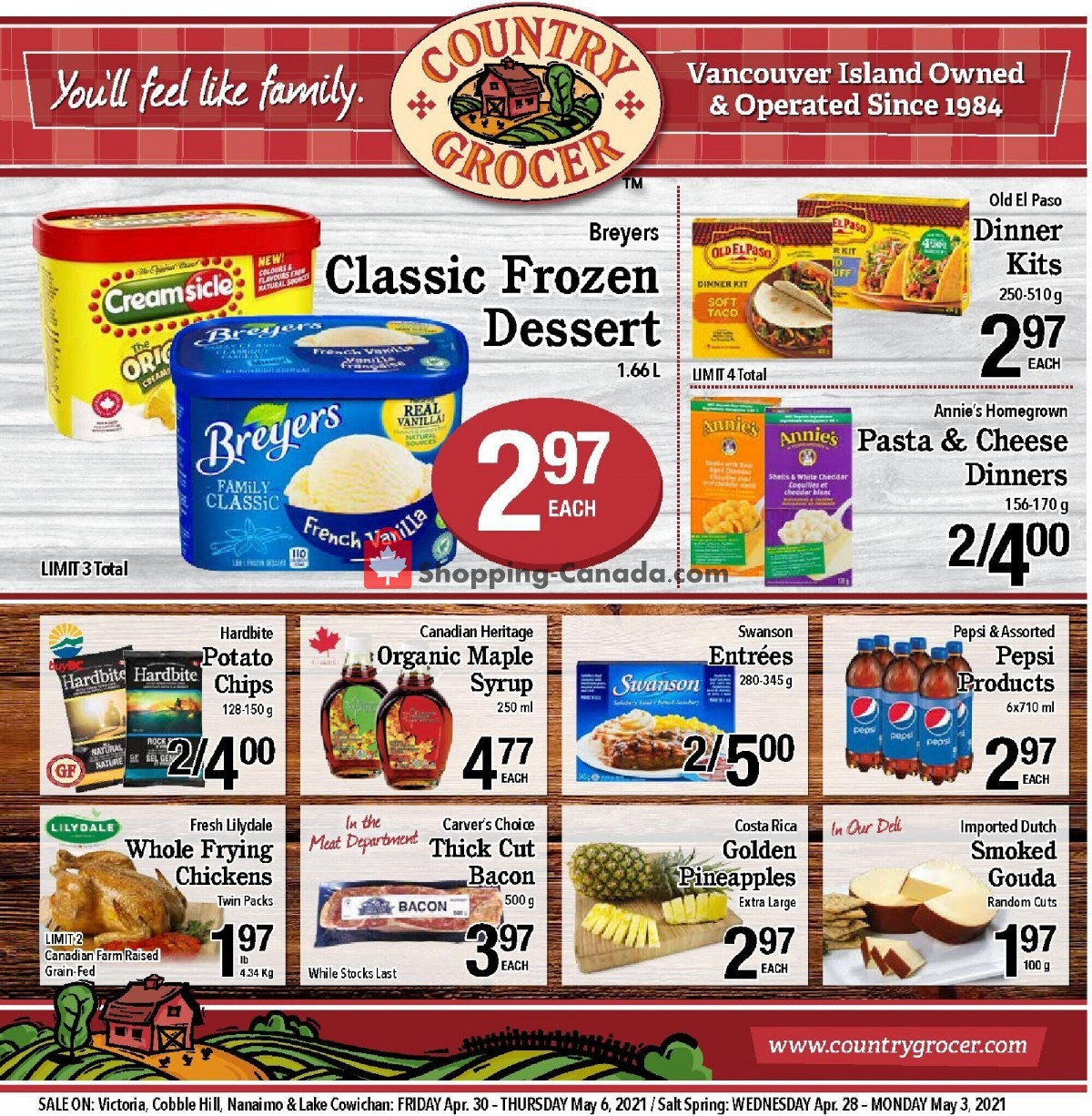 Flyer Country Grocer Canada - from Friday April 30, 2021 to Thursday May 6, 2021