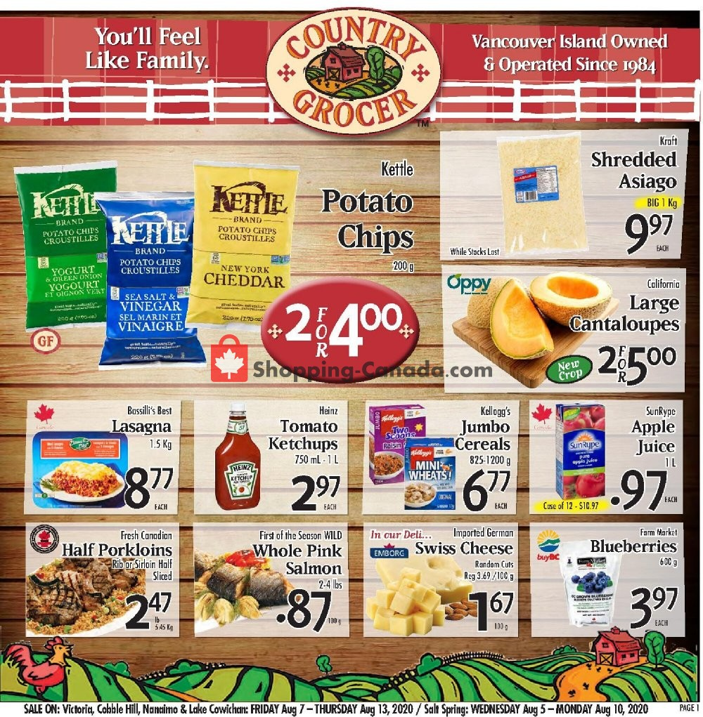 Flyer Country Grocer Canada - from Friday August 7, 2020 to Thursday August 13, 2020