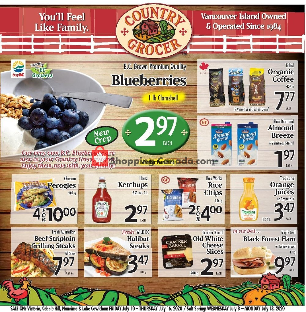 Flyer Country Grocer Canada - from Friday July 10, 2020 to Thursday July 16, 2020