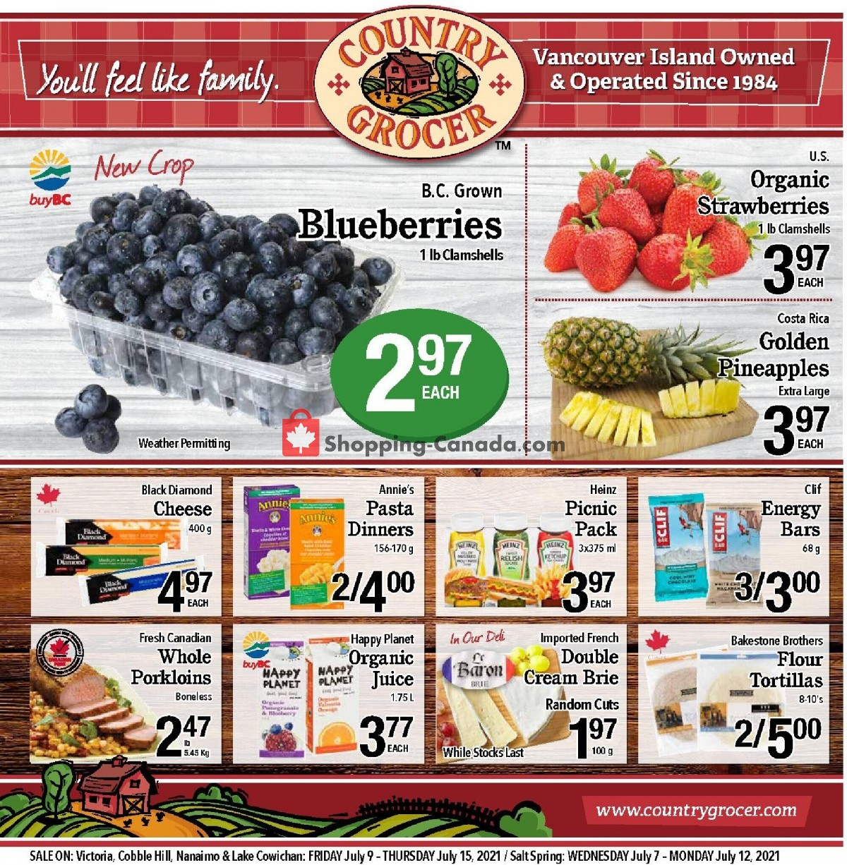Flyer Country Grocer Canada - from Friday July 9, 2021 to Thursday July 15, 2021
