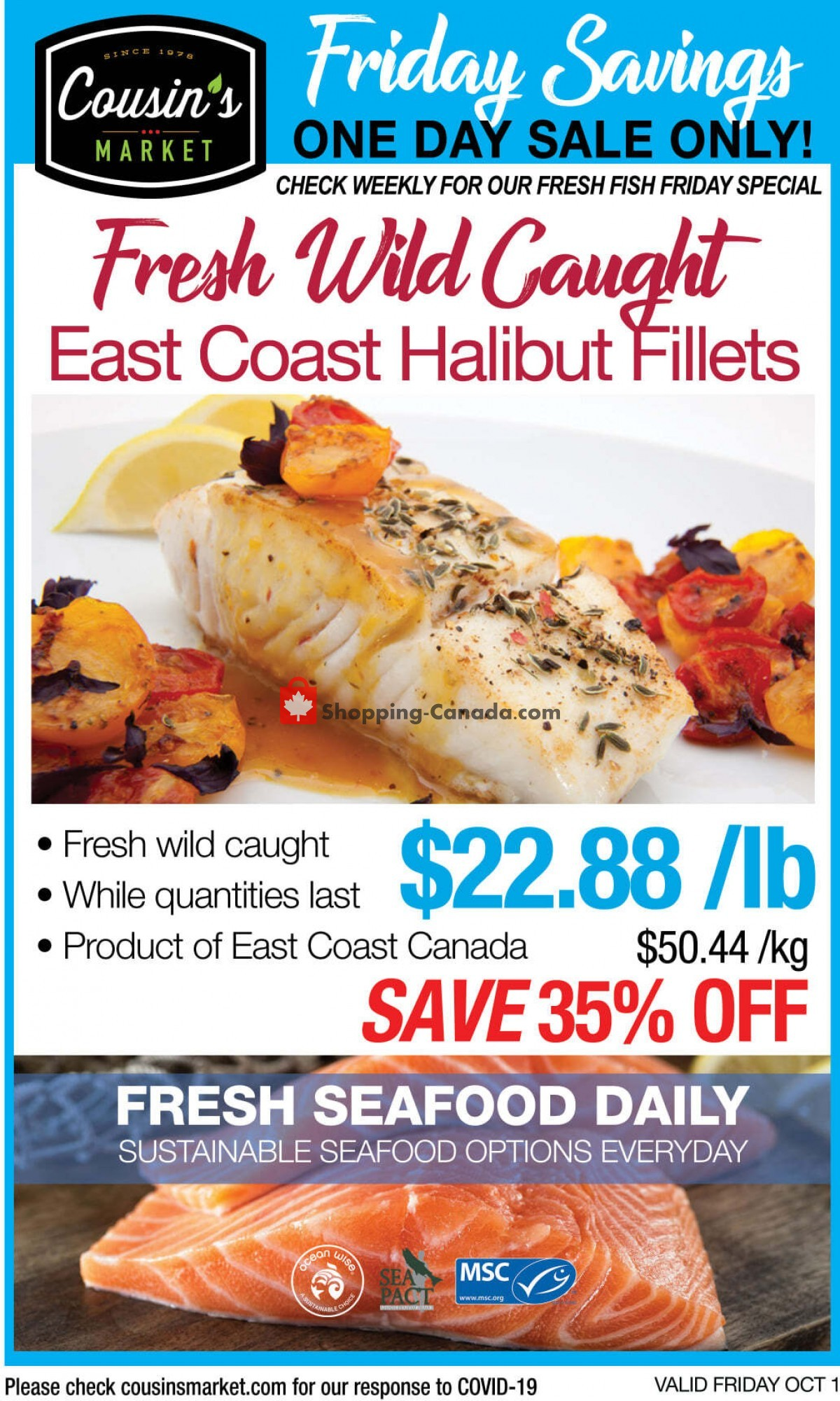 Flyer Cousin's Market Canada - from Friday October 1, 2021 to Friday October 1, 2021