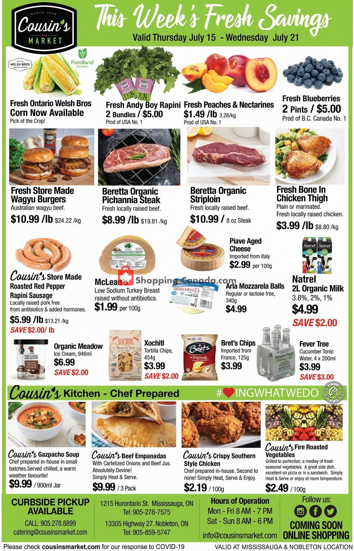 Flyer Cousin's Market Canada - from Thursday July 15, 2021 to Wednesday July 21, 2021