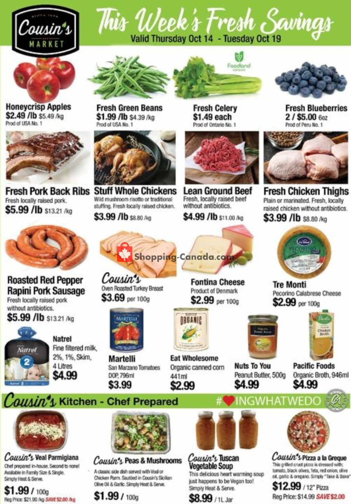 Flyer Cousin's Market Canada - from Thursday October 14, 2021 to Wednesday October 20, 2021