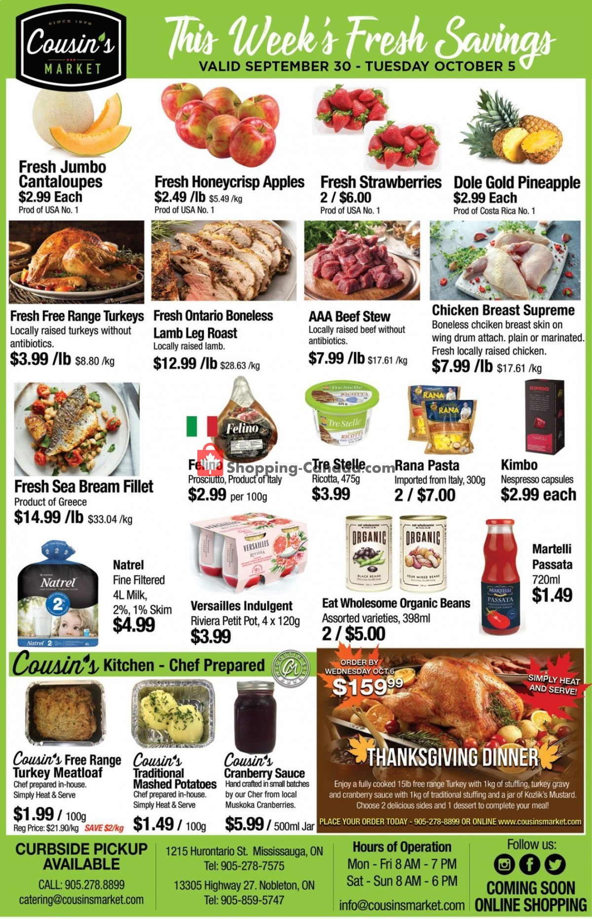 Flyer Cousin's Market Canada - from Thursday September 30, 2021 to Tuesday October 5, 2021
