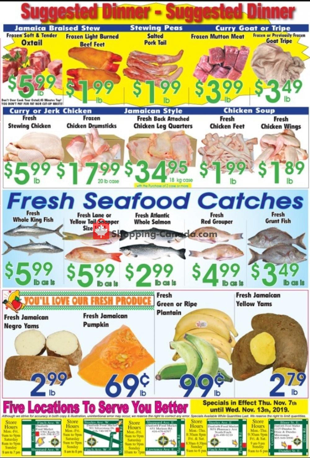 Flyer Danforth Food Market Canada - from Thursday November 7, 2019 to Wednesday November 13, 2019
