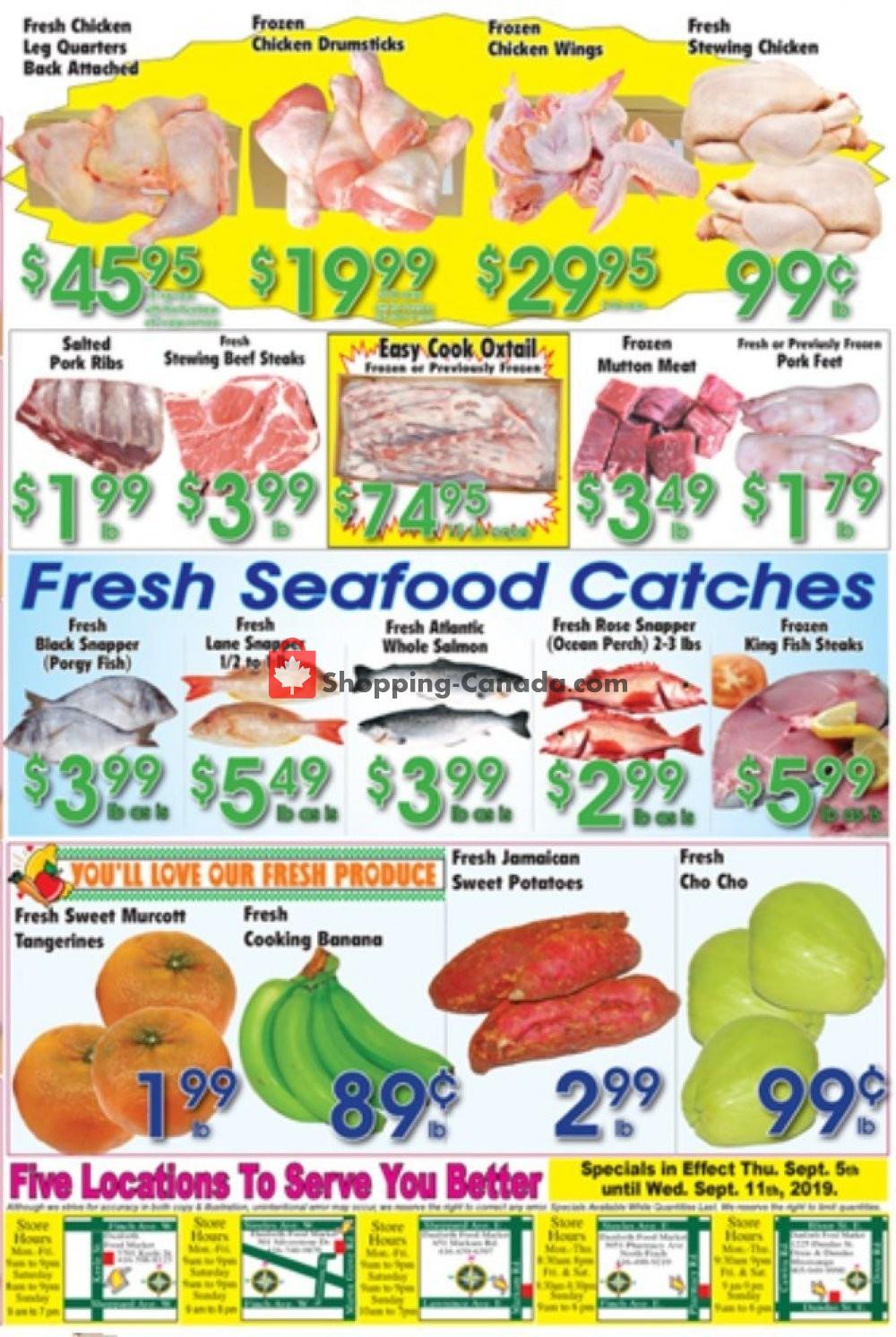 Flyer Danforth Food Market Canada - from Thursday September 5, 2019 to Wednesday September 11, 2019